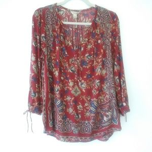 Lucky Brand Floral Tunic Sz Small